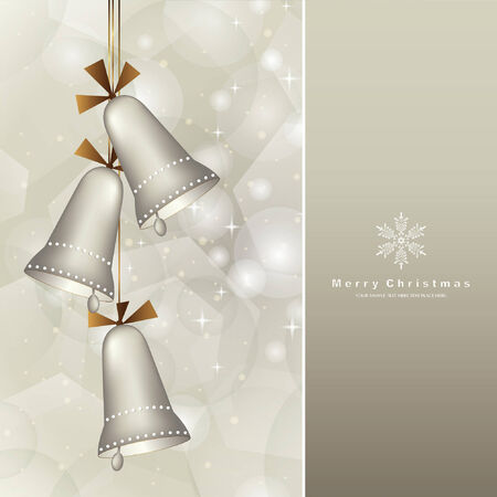 jingle bells: elegant christmas background with baubles