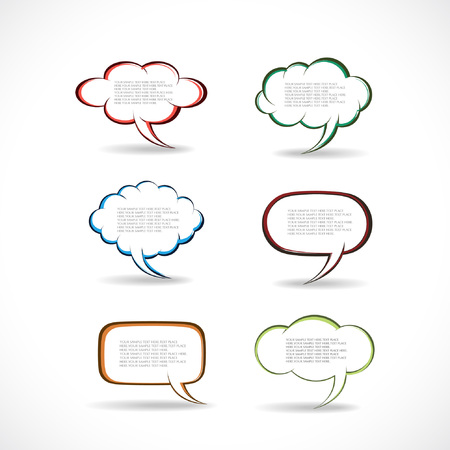 Speech bubbles vector  向量圖像