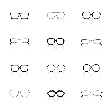 Icon Set, Sunglasses  Vector