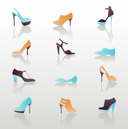 Icon Set, Shoes Stock Vector - 8994326