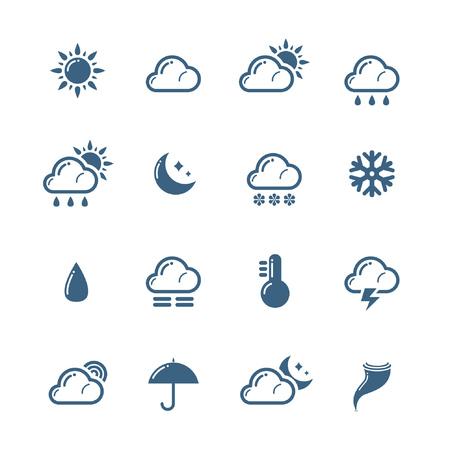 Weather icons Stock Vector - 9083420