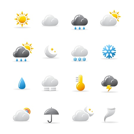 Weather icons Stock Vector - 9193088