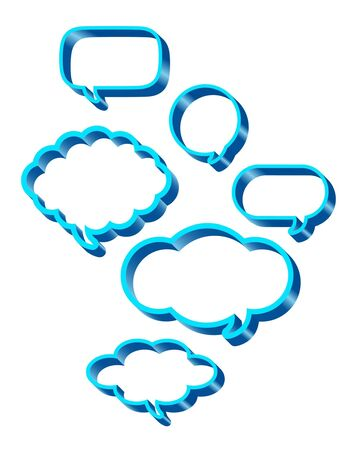 Dialog clouds. vector illustration Stock Vector - 9108855