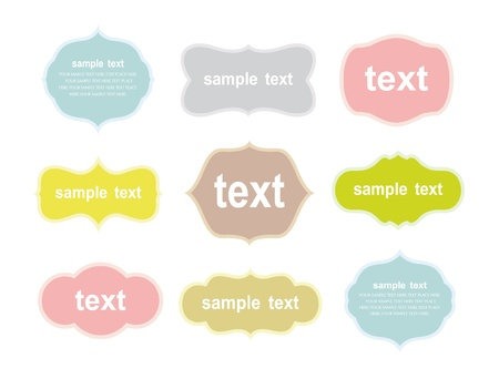 Vector set of vintage frames Stock Vector - 9273535