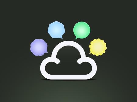 distinguish: Cloud speech bubbles  Illustration