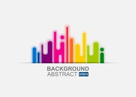 Urban designed background with stylized abstraction.