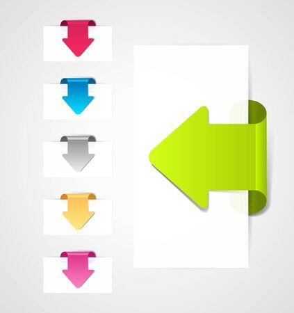 arrows background: set of arrows.