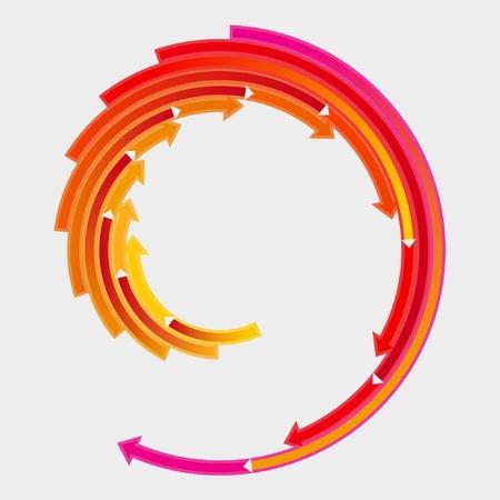 Flèches colorées