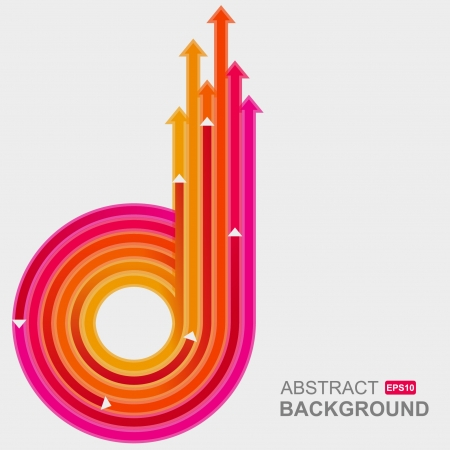 growth: Colored arrows vector  Illustration
