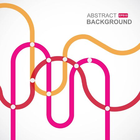 designed: Urban designed background with stylized abstraction. Vector illustration