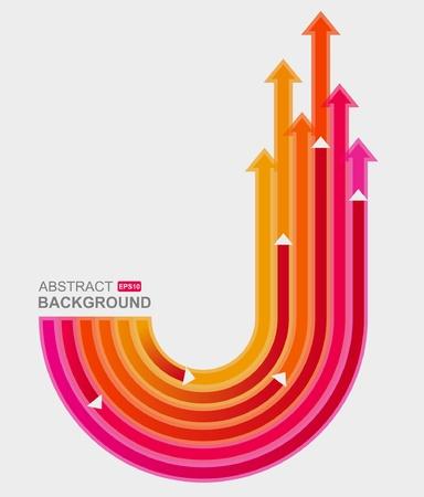 directions: Gekleurde pijlen  Stock Illustratie
