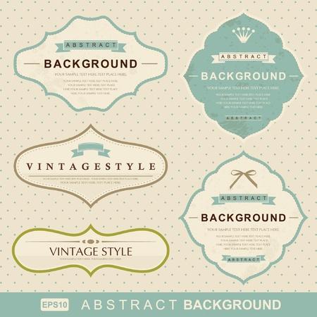 vintage: векторный набор: старинные этикетки