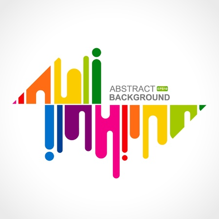 artistic designed: Urban designed background with stylized abstraction. Vector illustration