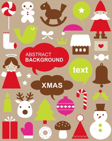 Vector illustration - set of Christmas icons Stock Vector - 9803925
