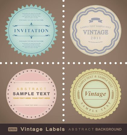 vector set: vintage labels  向量圖像