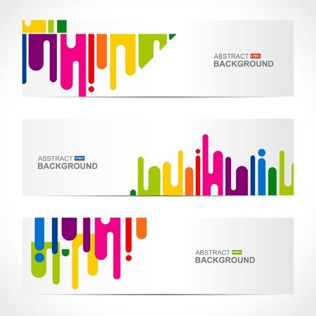 abstract modern website banner set design