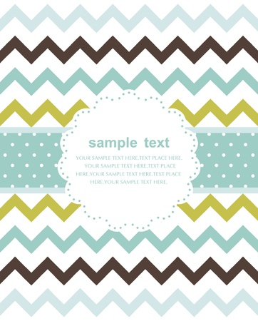 Template frame design for greeting card Stock Vector - 10706881