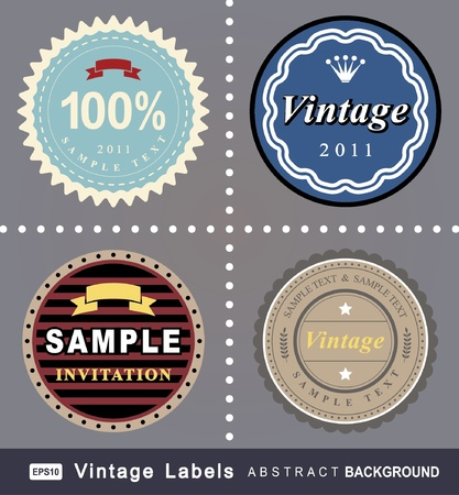 art product: vintage labels