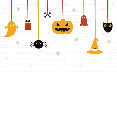 carved pumpkin: Cute Halloween card