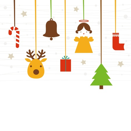 christmas sock: Vector illustration - set of Christmas icons