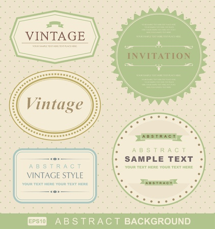 nouveau: vector set: vintage labels