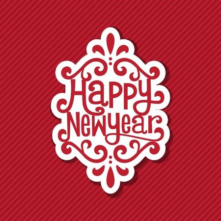 nieuwe jaar tag Vector Illustratie
