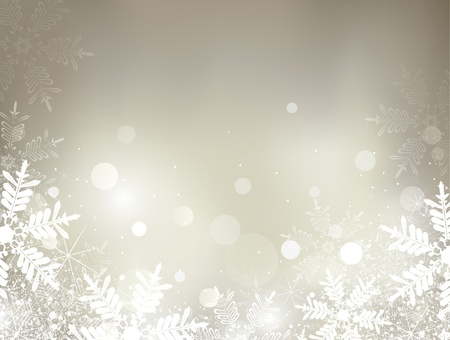 abstract Christmas background with snowflakes  Stock Vector - 11336934