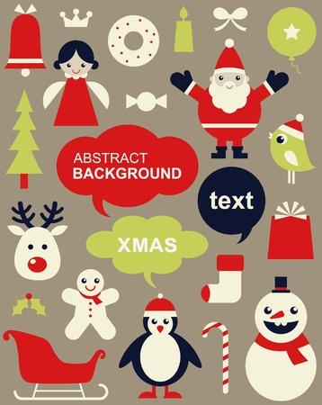 christmas cookie: Vector illustration - set of Christmas icons