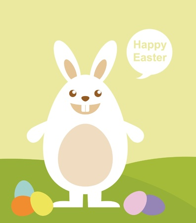Easter rabbit with Easter egg  Stock Vector - 12811041