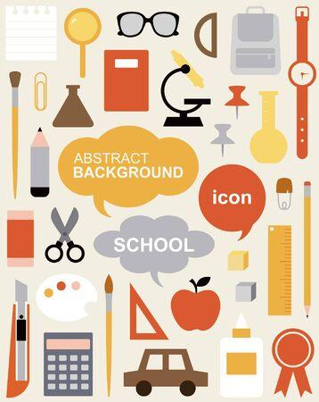palette knife: Edit Icon Set - Education  Illustration
