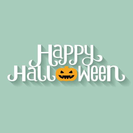 Happy Halloween Typography banner Vector