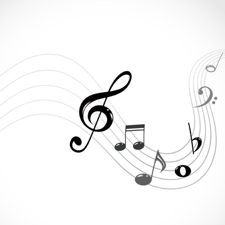 key signature: musical notes Illustration