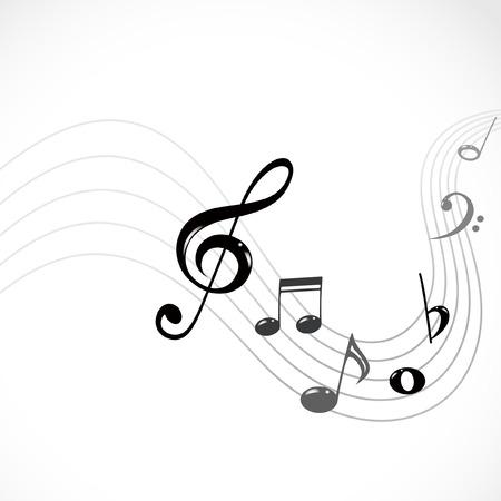 key signature: musical notes Illustration