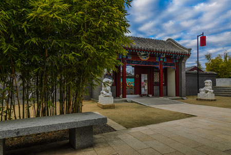 garden gate: Chinese garden gate Stock Photo