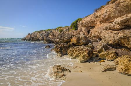 yorke: Sunny day landscape coast line cliffs at the beach