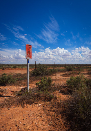 australian outback: Emergency Fire Plug in  remote area Australian outback