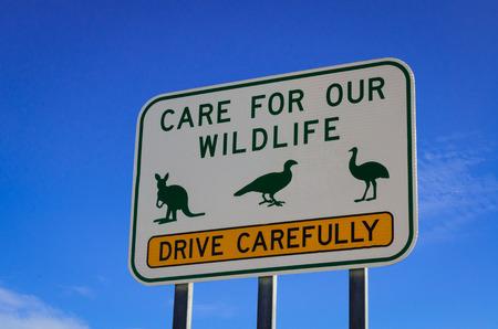 yorke: Kangaroo and emu wildlife road sign warning