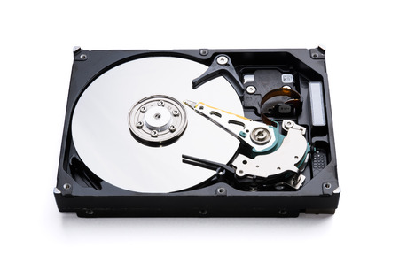 data recovery: Hard disk drive surface data storage recovery concept Stock Photo