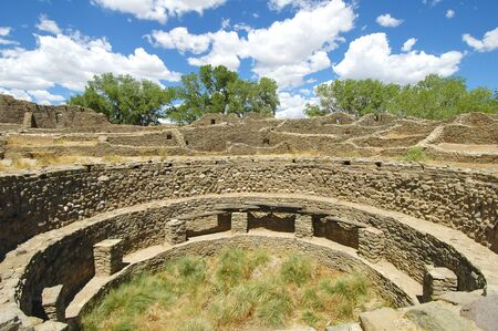 Kiva at Aztec Ruins National Park Stok Fotoğraf
