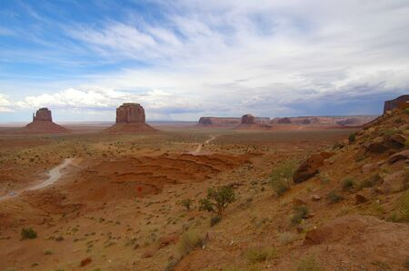 Monument Valley storm approaching