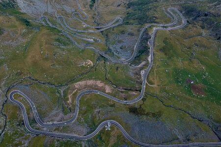 Transfagarasan road like a natural circuit of slot in Transilvania, Romania