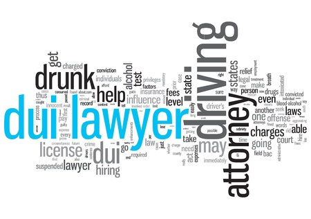 DUI Lawyer Concept Design Word Cloud on White Background photo