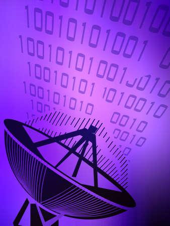 data: Vector illustration of Transmitting data Stock Photo