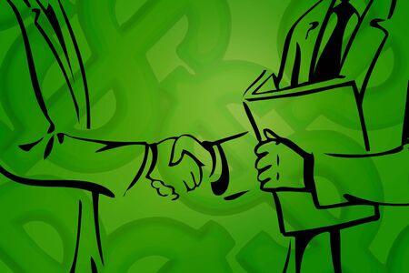 farewell: Vector illustration of businessman shaking hands