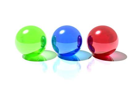 Rgb spheres photo
