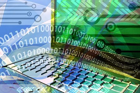 Computer tecnology background with abstract design elements