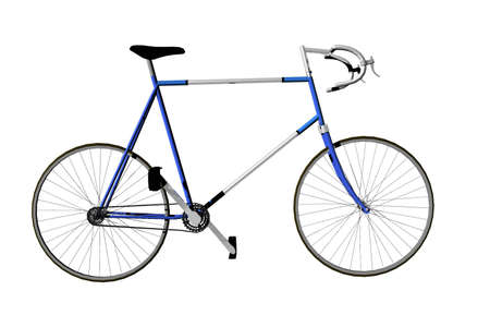 competitor: 3d render illustration of isolated racing bike Stock Photo