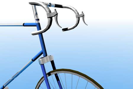 competitor: 3d render illustration of racing bike