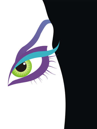 Vector illustration of a woman eye