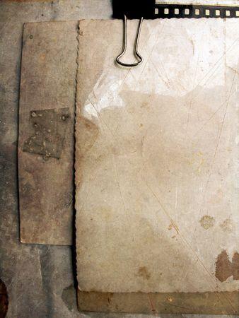 Blank Vintage paper parchment photo